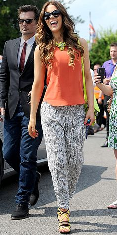 Would you layer neon a la Kate Beckinsale?