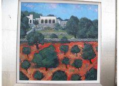 Italy: Painting of Villa Impisi