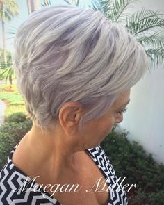 Pastel Purple Layered Pixie Bob