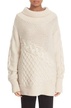 Main Image - Prabal Gurung Cable Knit Cashmere Sweater Cable Knit Sweaters ed263deef