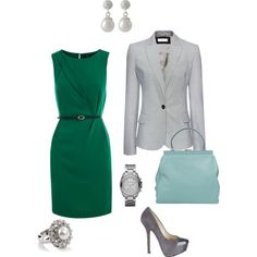 Spring Work Idea - green and grey