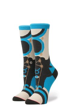 STANCE SOCKS NEW Women/'s Harley Washed Freedom Blue BNWT