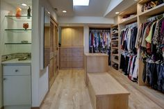 Every homeowner deserves a walk in closet like this.  West Mercer Way Mercer Island, WA