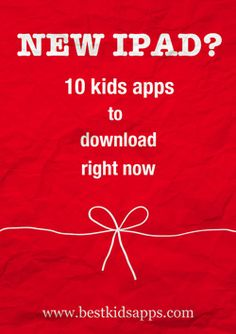 If you've got a new iPad, iPhone or iPod touch (or not so new!) and need kids' apps, start here.