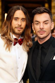 3/17/14  2:40p  Jared & Shannon Leto Brothers at The Oscars, 2014.