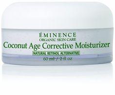 Eminence Organics Coconut Age Corrective Moisturizer 2 oz by Eminence Organic Skin Care. Smells divine & really moisturises my sensitive skin without any irritation. Natural Exfoliant, Natural Moisturizer, Moisturiser, Organic Skin Care, Natural Skin Care, Tighter Skin, Eminence Organics, Skin Firming