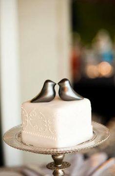 small wedding cake..so so cool! and then dessert bar?? @Jennifer Milsaps L Valimont @Beth J J Roberts