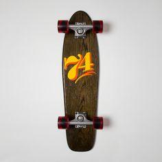 Cruiser Medium - Black (Oak) - 74 – Skills or Skulls Skateboards Painted Signs, Hand Painted, Letter Ornaments, Skateboards, Long Boarding, Wooden Boards, Sign Painting, Longboards, Decks