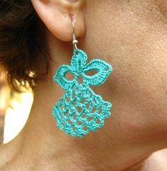 Dangle Angel Earrings, ornament, crochet pattern $2.90