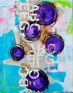 Love this collaged canvas from Dina Wakley