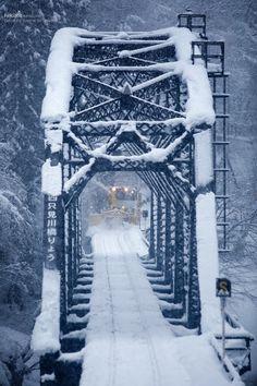 """bluepueblo: """" Snow Bridge, Japan photo via hekiqoo """""""