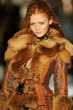Celtic fashion. I love the fur, leather, and rough material.