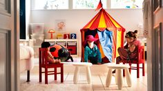 The very best playground. It's through play that children learn about the world around them. So shouldn't their bedroom be the best place to do that? With some smart storage and kid-sized furniture we left plenty of space for big imaginations in this room.