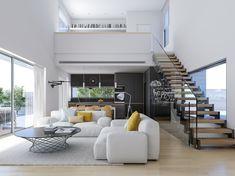 125 amazing interior design ideas for modern loft 10 Loft Interior Design, Home Stairs Design, Loft Design, Home Room Design, Minimalist House Design, Small House Design, Minimalist Home, Modern House Design, Minimalist Interior