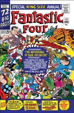 Fantastic Four Annual Vol. 1 Art by: Jack Kirby, Mike Esposito and Stan Goldberg Marvel Comics, Old Comics, Marvel Comic Books, Comic Book Characters, Vintage Comics, Comic Books Art, Comic Art, Marvel Vs, Marvel Characters