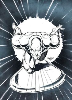 The Silver Surfer - Scott Dalrymple Marvel Dc, Marvel Comics, Bd Comics, Marvel Heroes, Captain Marvel, Marvel Comic Character, Marvel Characters, Comic Books Art, Comic Art