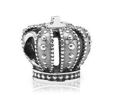 Pandora Silver Crown Charm 790930 at John Greed Jewellery