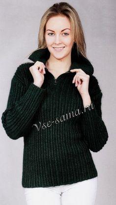 Пуловер с воротником на молнии, фото