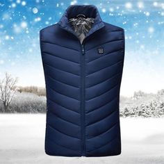 (Last day promotion-50% OFF) Unisex Warming Heated Vest – iGo Store Heated Jacket, Floral Embroidery Dress, Long Sweaters For Women, Duck Down Jacket, Long Sweater Dress, Body Warmer, Neck Warmer, New Blue, Sport Casual