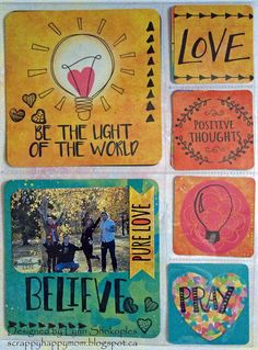 Be The Light 8x9 Misc.Me by Lynn Shokoples for BoBunny featuring the Believe Collection and the Amen Stamp Set. #BoBunny @scrappyhappymom