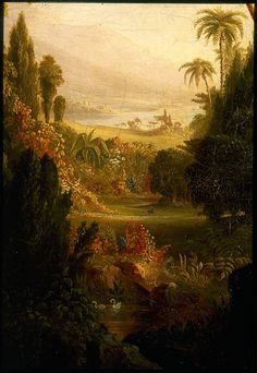 """Thomas Cole """"The Expulsion from Eden"""" 1828"""