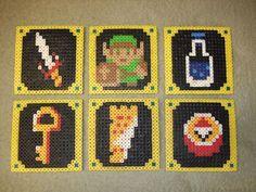 Picture of Legend of Zelda Beverage Coasters (Pearler Beads)