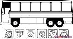 Otobüs Ve Yolcuları Boyama Sayfası - Önce Okul Öncesi Ekibi Forum Sitesi - Biz Bu İşi Biliyoruz