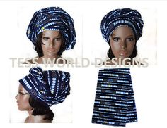 African Head tie  HT02 by TessWorldDesigns on Etsy