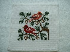 Completed Prairie Schooler Cross Stitch Birds - Cardinal on Etsy, $11.29 AUD