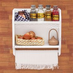 Find More Kitchen Toys Information about Odoria 1:12 Miniature Kitchen Wood White Wall Mounted Cabinet Shelf Storage with Jars and Food Dollhouse Furniture Accessories,High Quality kitchen corner shelf,China shelf supermarket Suppliers, Cheap shelf design from LunaDore on Aliexpress.com
