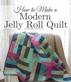 Some quilts are so easy to make. I made this quilt by using a Jelly Roll and following an easy video tutorial. Anyone can make this quilt.