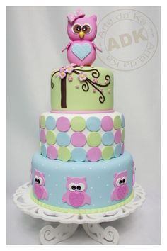 Owl  Baby Shower or B Day Cake