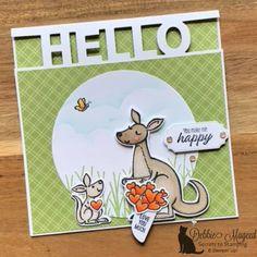Kangaroo & Company Valentine Card for Make My Monday U Make Me Happy, Happy Love, Animal Cards, Anniversary Cards, Kangaroo, 3 D, Stampin Up, Card Making, Paper Crafts