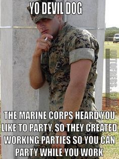 Working Party in the #MarineCorps #usmc