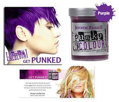 Jerome Russell Punky semi-permanent conditioning hair color, 3.5 oz.(purple) Punky Colour is the original semi-permanent conditioning hair color. Get outrageous color on bleached or chemically-treated