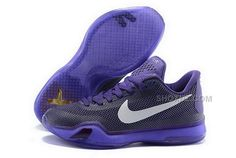 Buy Cheap Nike Kobe 10 2015 Purple White Mens Shoes