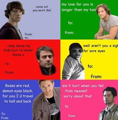 Supernatural valentine cards