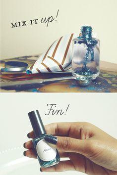 DIY: Customized Nail Polish Fun  Bridal Shower Favor Idea  www.designbydainty.com/blog  http://fashiontofood.blogspot.ca