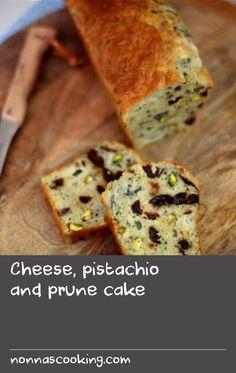 Cheese, pistachio and prune cake Picnic Salad Recipes, Side Salad Recipes, Lunch Recipes, Basil Recipes, Cheese Recipes, Cake Recipes, Prune Cake, Batter Recipe, What Recipe