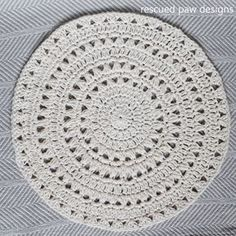Free Crochet Pattern Simple Doily from Rescued Paw Designs - Make this FREE crochet doily pattern today along with many other FREE crochet patterns!