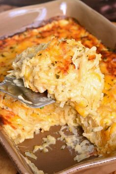 Wonderful comforting potato dish loaded with cheddar cheese and creamy sauce. Wonderful comforting potato dish loaded with cheddar cheese and creamy sauce. Hashbrown Breakfast Casserole, Hash Brown Casserole, Potatoe Casserole Recipes, Breakfast Potatoes, Potato Recipes, Cheesy Potatoes With Hashbrowns, Potato Sides, Potato Side Dishes, Frozen Hashbrowns