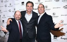 Seinfeld actors Jason Alexander, Michael Richards and host Jerry Seinfeld attend the Inaugural Los Angeles Fatherhood Lunch to Benefit Baby Buggy.