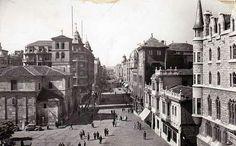 León, fotos antiguas, plaza de santo Domingo y avda de Ordoño ll