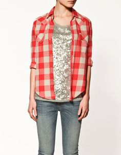 love the lumberjack buffalo plaid against the sparkles...  actually, i love anything with sparkles. :)
