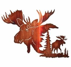 "24"" Yaak Bull Moose Metal Wall Art by Neil Rose"