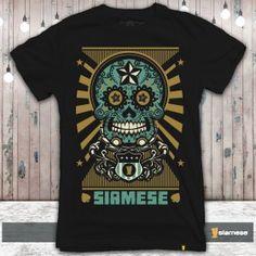 Camiseta Calaveras Mexicanas Siamese  f2eaafa7c4f