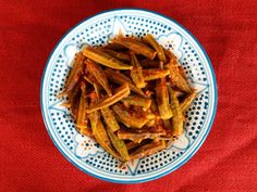 Middle Eastern Okra - Easy, Healthy and Delicious Recipe for Bamya with Tomato, Onion and Spices by Tori Avey.