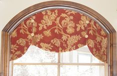 WORKROOM INTELLIGENCE - Arched Inside Mount Valance  Designer or installer should do a template for this arched inside mount treatment. Description from pinterest.com. I searched for this on bing.com/images
