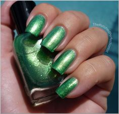 Zoya Apple (green) this photo does not do this polish justice, I wore it for Halloween and could not believe how beautiful it was!