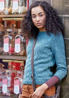 Пуловер рельефным узором Lund